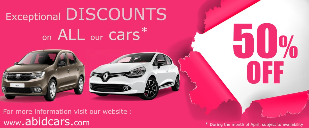 50% OFF on our AUTOMOBILE fleet